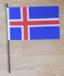 Iceland Country Hand Flag - Medium.